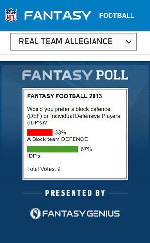 IDP or Block Defence poll (2013)